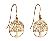 Elements Yellow Gold Tree Of Life Earrings GE2306