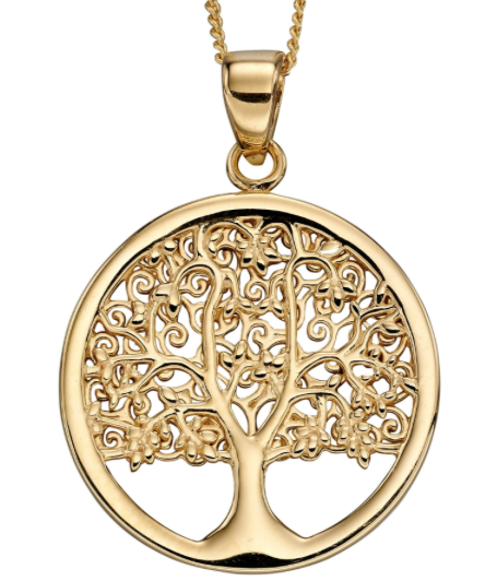 Elements Yellow Gold Tree Of Life Pendant