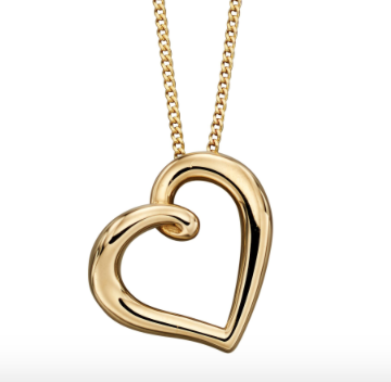 Elements Yellow Gold Open Heart Pendant gp2173