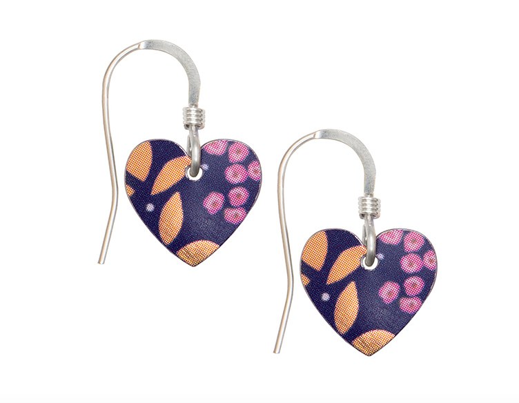 Kyoto Garden round heart earrings
