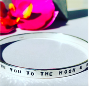 Affirmations Love you to the Moon Bangle