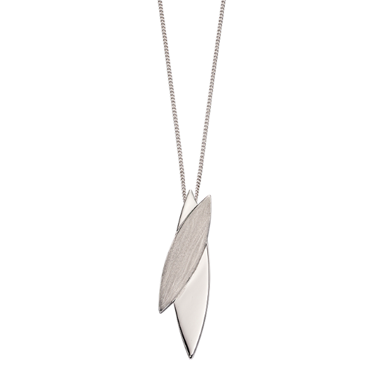 Fiorelli brushed leaf pendant