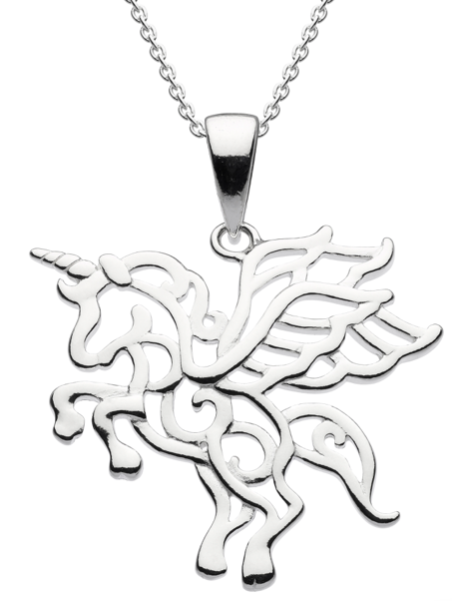 Dew Flying Unicorn Pendant 9714
