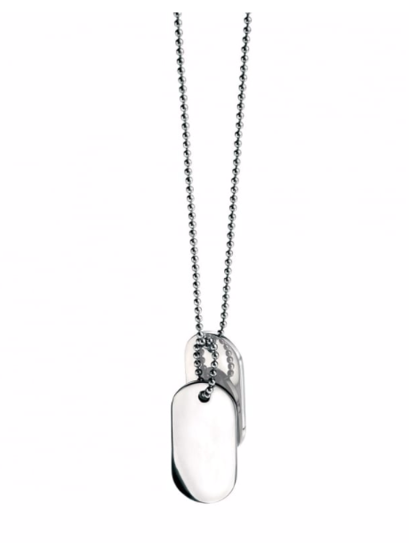 Fred Bennett Stainless Steel Oval Dogtags Necklace N2686