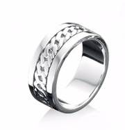 Fred Bennett Sterling Silver Celtic Design Ring r3046