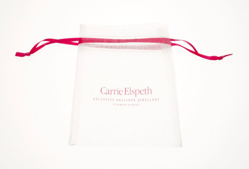 Carrie Elspeth White Bridal Bead Necklace