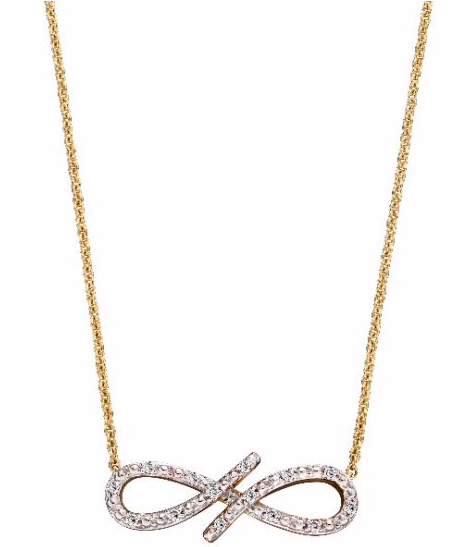 Elements Yellow Gold & Diamond Infinity Necklace