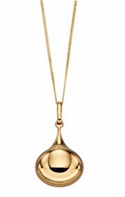 Elements Yellow Gold Teardrop Pendant GP2154