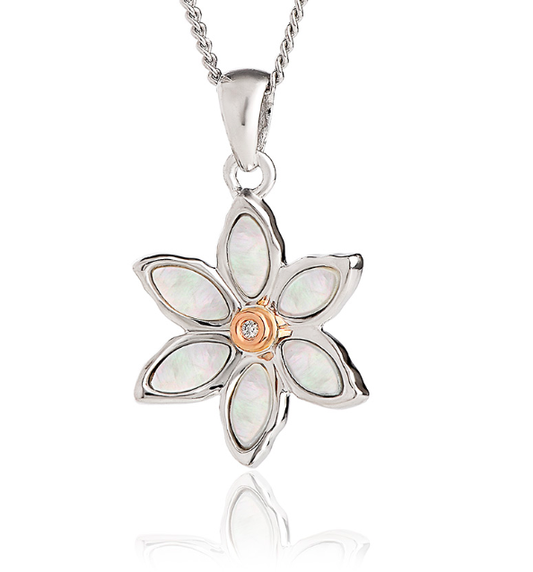 Clogau Lady Snowdon Mother of Pearl Flower Pendant 3SNLP