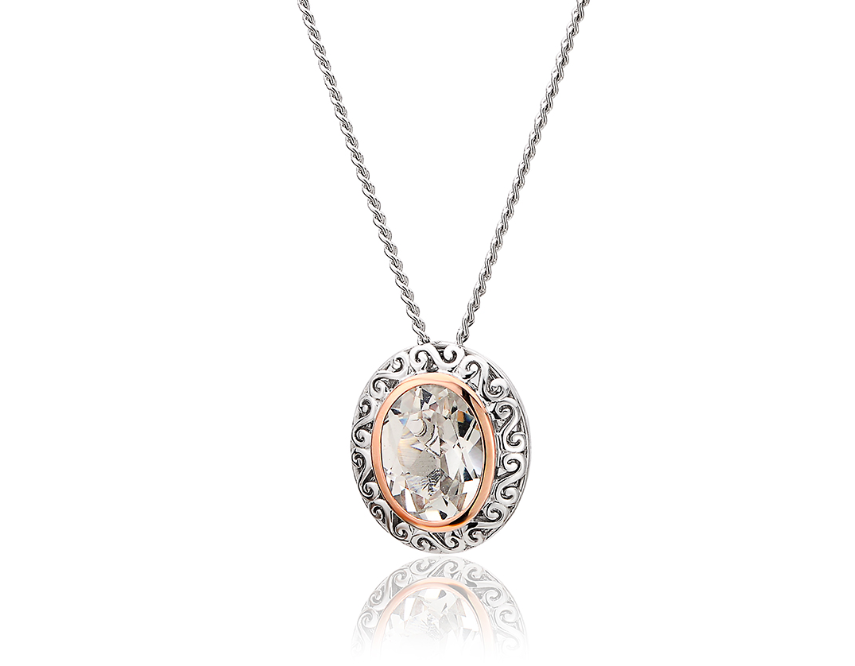 Clogau Gold Looking Glass White Topaz Pendant 3SALWP3