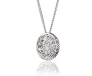 Clogau Gold Looking Glass White Topaz Pendant