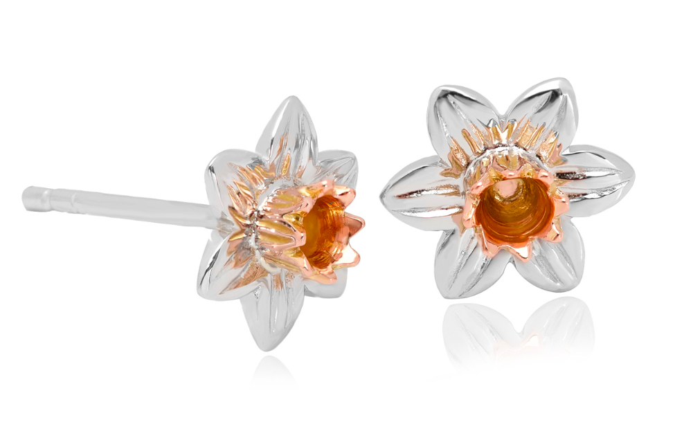 Clogau Gold Daffodil Stud Earrings SDSE 149