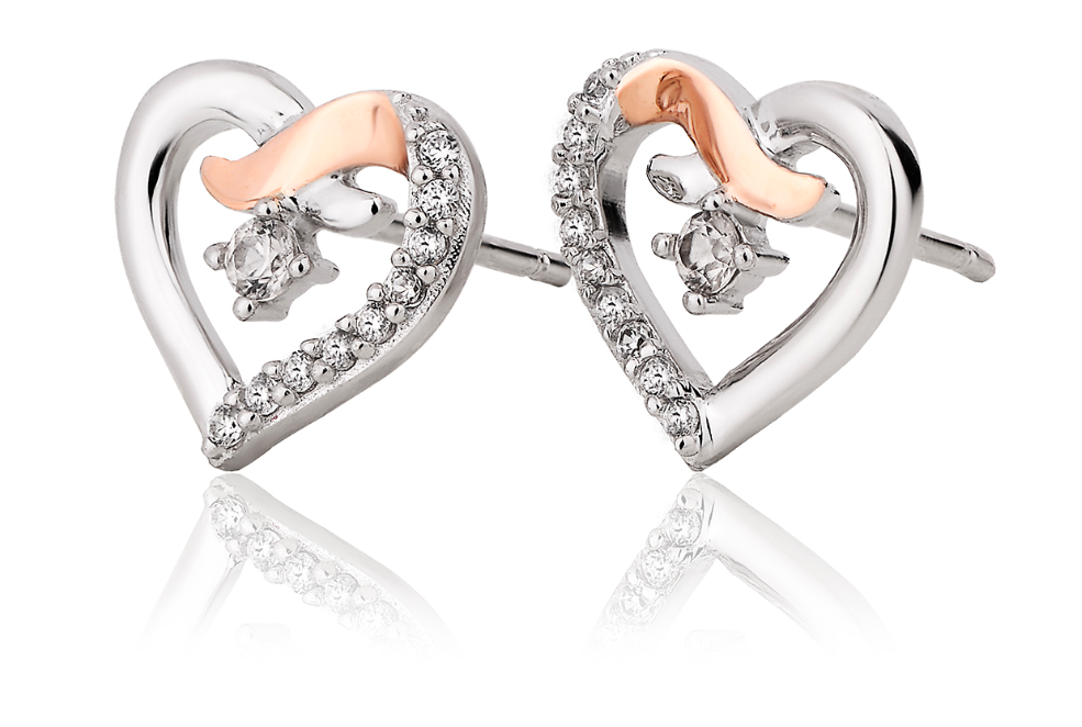 Clogau Gold Heart Kiss Stud Earrings 3SCGKSE 119