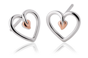 Clogau Gold Tree of Life Heart Stud Earrings 3STLHE7 79