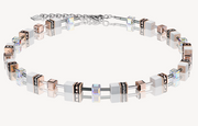 Coeur De Lion White & Rose Gold GeoCUBE Necklace 4016101400