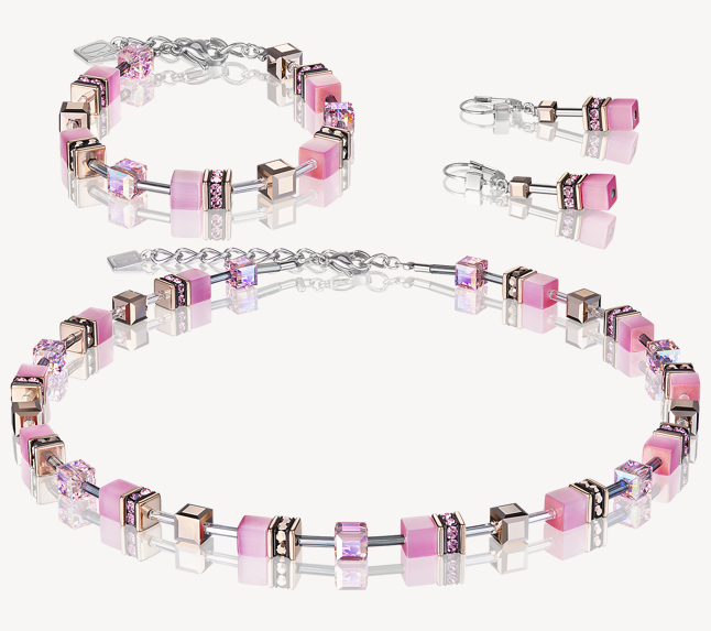 Coeur De Lion Light Rose Pink GeoCUBE Bracelet