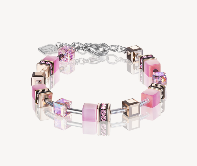 Coeur De Lion Light Rose Pink GeoCUBE Bracelet 4016301920