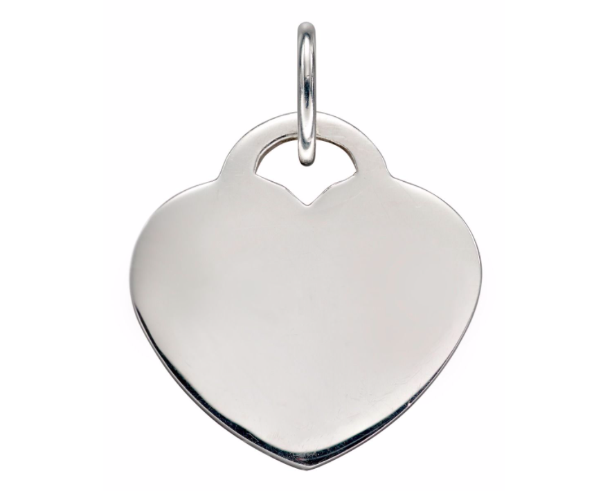 Engravable Heart Lock Pendant p4830