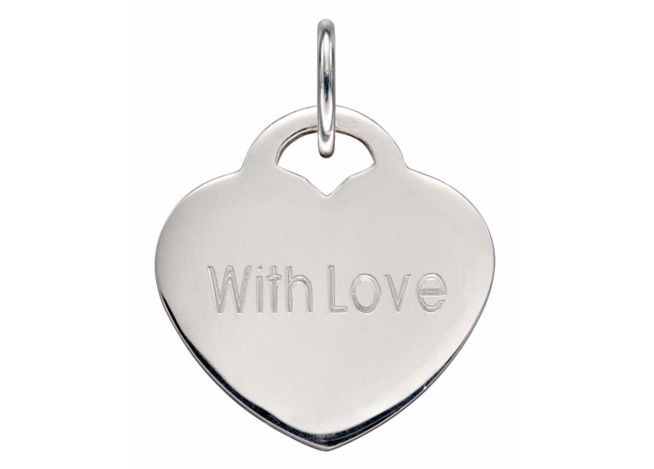 Engravable Heart Lock Pendant