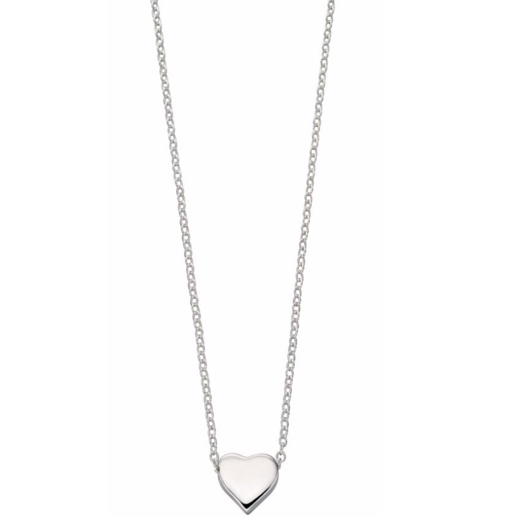 Silver Single Heart Necklace