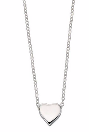 Silver Single Heart Necklace N3545