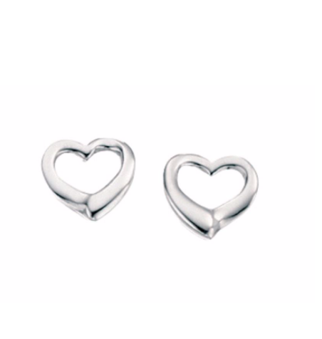 Small Open Heart Stud Earrings e2102