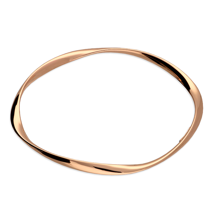 Rose Gold Twisted Bangle H1951/R