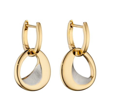 Fiorelli Sculped Organic Gold Hoop Earrings e5835