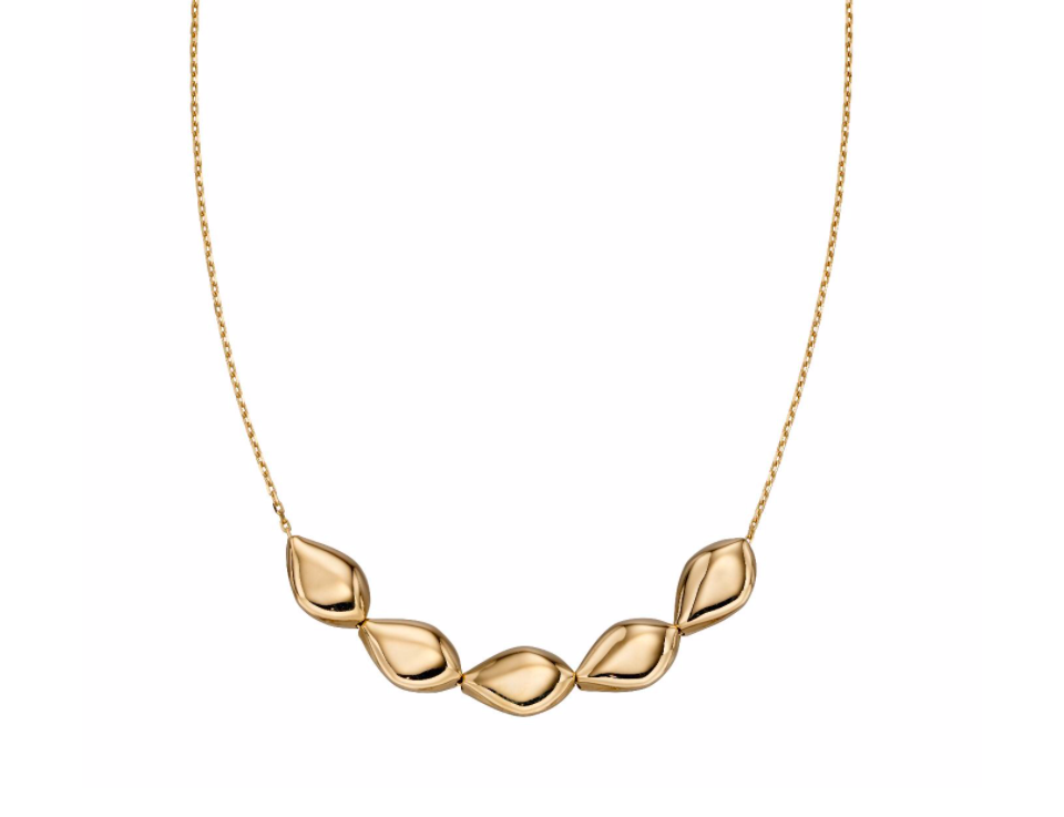 Gold Multi Pebble Necklace GN342