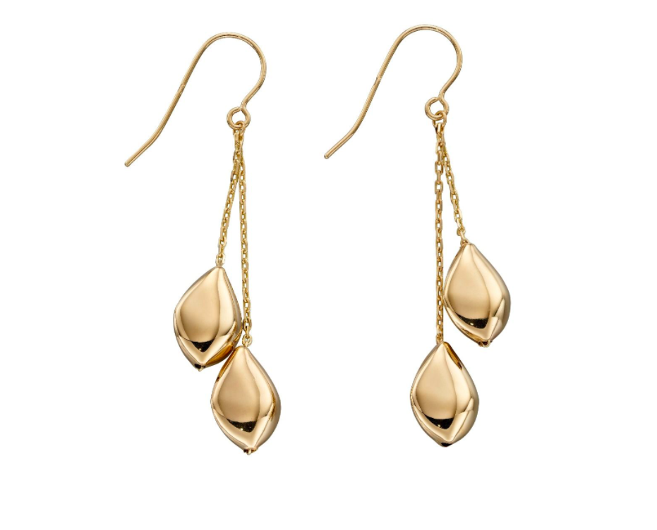 Gold Multi Pebble DROP EARRINGS GE2314