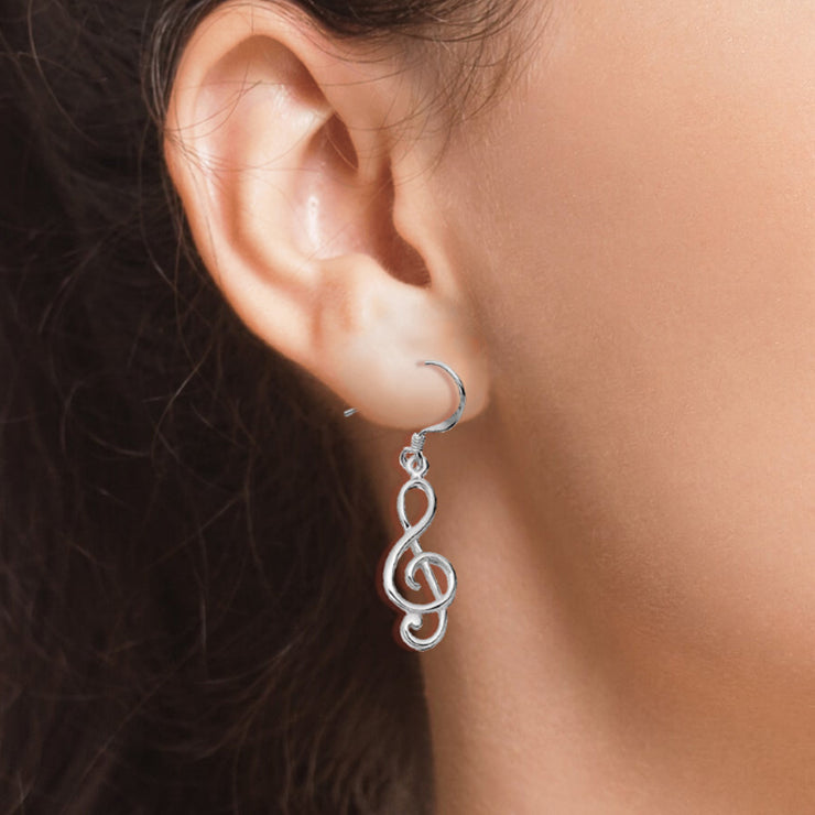 Treble Clef Drop Earrings