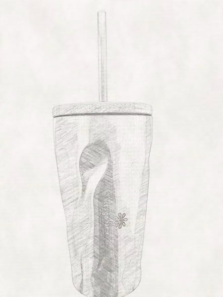Reusable Cup with Straw