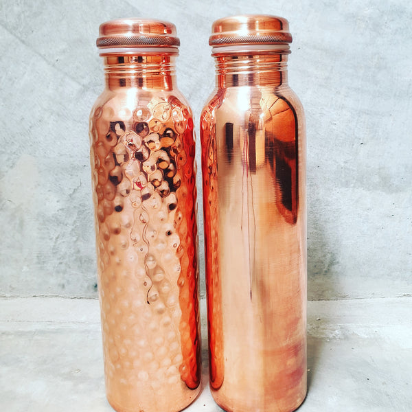 Water Bottle made from Copper is good for health. Copper makes water naturally alkaline