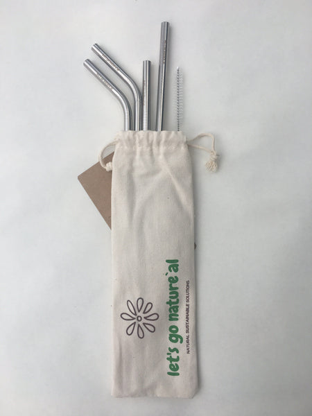Reusable Straw with Bag set