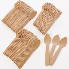 Eco-friendly Wooden Cutlery- single use disposable cutlery that is 100% home composable cutlery.