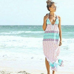 Maxi Dress in Turquoise Dreams