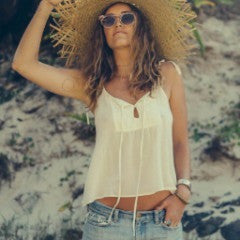 Lucia Tank Top in Cream