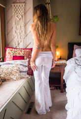 Sophie Bells in White Burnout Velvet