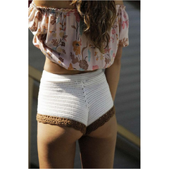 Caroline Crochet Shorts in White
