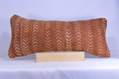 12 x 26 African Mudcloth Pillow Cover - Rust