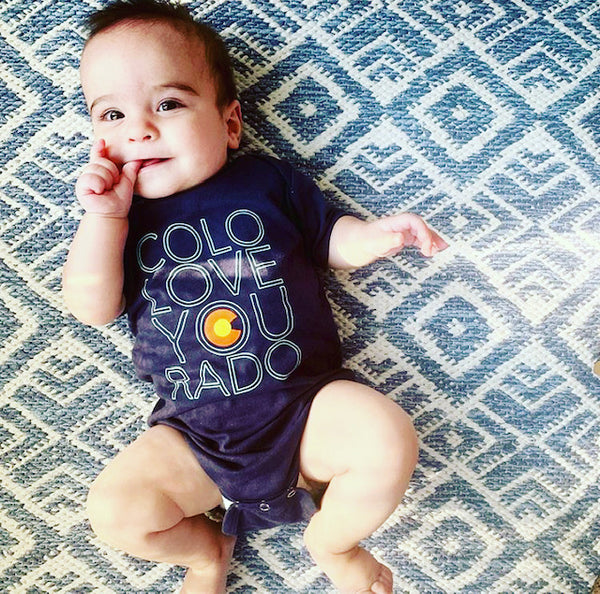 Colorado Love Onesie - Midnight Navy