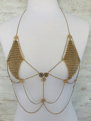 Vivian Body Chain - Silver, Gunmetal or Gold
