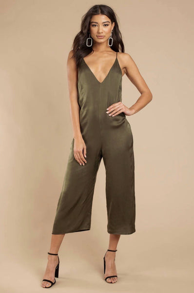 The V-Neck Jumpsuit Olive