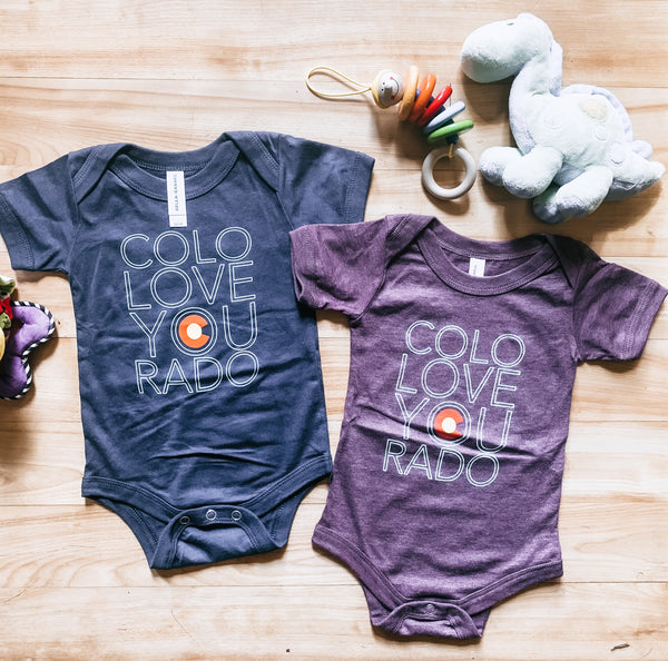 Colorado Love Onesie - Burgundy