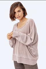 Maeve Open Back Pullover - Saddle
