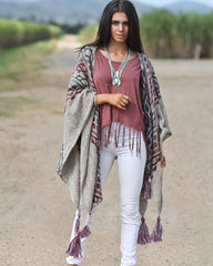 Weekender Knit Poncho Wrap - Limited Edition
