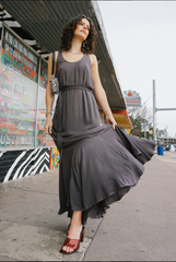 The Constance Dress - Washed Black