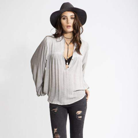 Talitha Blouse - Light Gray