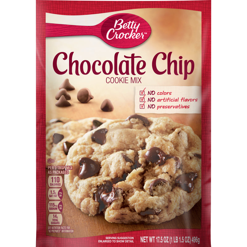 Cookie Mix Chocolate Chip - Betty Crocker 12x17.5oz