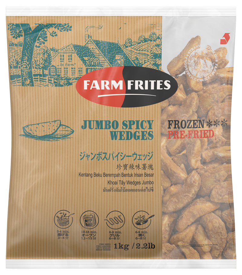 Jumbo Spicy Wedges - FarmFrites 10x1000g [H] NL
